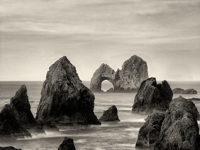 Mack Arch Rock at sunrise. Oregon