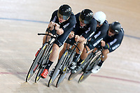 Luke Mudgway, Nick Kergozou, Campbell Stewart and Regan Gough during training, Avantidrome, Home of Cycling, Cambridge, New Zealand, Friday, March 17, 2017. Mandatory Credit: © Dianne Manson/CyclingNZ  **NO ARCHIVING**