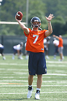 Kyle McCartin during open spring practice for the Virginia Cavaliers football team August 7, 2009 at the University of Virginia in Charlottesville, VA. Photo/Andrew Shurtleff