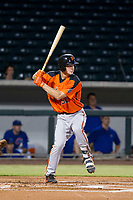 AZL Giants third baseman Jacob Gonzalez (52) at bat against the AZL Cubs on September 6, 2017 at Sloan Park in Mesa, Arizona. AZL Giants defeated the AZL Cubs 6-5 to even up the Arizona League Championship Series at one game a piece. (Zachary Lucy/Four Seam Images)
