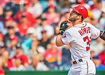 15 June 2016: Washington Nationals outfielder Bryce Harper in action against the Chicago Cubs at Nationals Park in Washington, DC. The Nationals defeated the Cubs 5-4 in 12 innings to take the rubber match of their 3-game series. Mandatory Credit: Ed Wolfstein Photo *** RAW (NEF) Image File Available ***