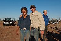 Camel catchers, in the Australian desert, Central Australia, Northern Territory, Australia.