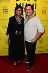 MIAMI BEACH, FL - MARCH 10: Cheryl Boone Isaacs (L), President of the Academy of Motion Picture Arts &amp; Sciences (AMPAS) and Andres Labrada (R) attends a conversation with Miami Film Festival Executive Director Jaie Laplante and Kevin Sharpley at O Cinema Miami Beach of Miami Beach on Tuesday March 10, 2015 in Miami Beach, Florida. <br /> ( Photo by Johnny Louis / jlnphotography.com )