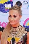 UNIVERSAL CITY, CA - JULY 22: Demi Lovato  arrives at the 2012 Teen Choice Awards at Gibson Amphitheatre on July 22, 2012 in Universal City, California.