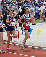 Branson Senior Bridgette Caruthers runs to a 15th place finish in the Class 4 Girls 1600 meter race in 5:20.18.