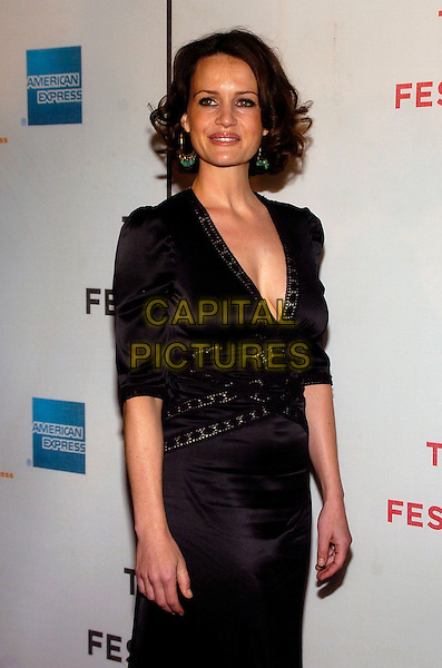 "CARLA GUGINO.6th Annual Tribeca Film Festival - ""Gardener of Eden"" premiere held at the Borough of Manhattan Community College, New York City, New York, USA, 26 April 2007..half length black dress erica cleavage low cut.CAP/ADM/BL.©Bill Lyons/AdMedia/Capital Pictures. *** Local Caption ***"