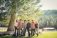 Hunt Family at Bar W Ranch in Whitefish, Montana on Thursday, Aug. 23, 2012.
