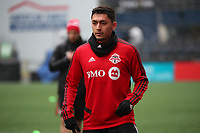 SEATTLE, WA - NOVEMBER 9: Marky Delgado #8 of Toronto FC at CenturyLink Field on November 9, 2019 in Seattle, Washington.