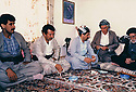 Iraq 1991 .Meeting in Suleimania with a sheikh on the right, of members of Kurdistan Socialist Democratic Party.Irak 1991 .Rencontre de membres du Parti socialiste democratique du Kurdistan avec un sheikh a Souleimania