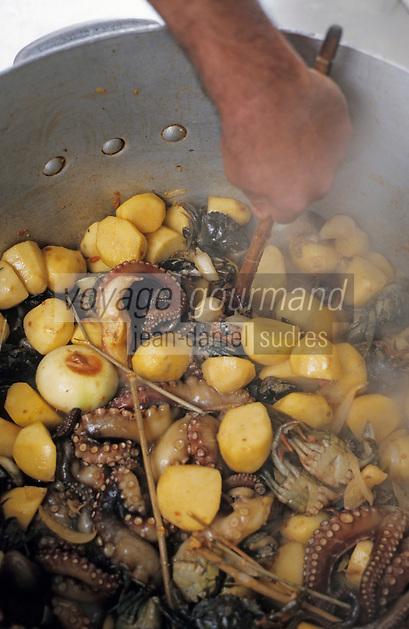 Europe/France/Provence-ALpes-Côte d'Azur/13/Bouches-du-Rhône/Marseille/Les Goudes: Gaby le pêcheur prépare sa bouillabaisse