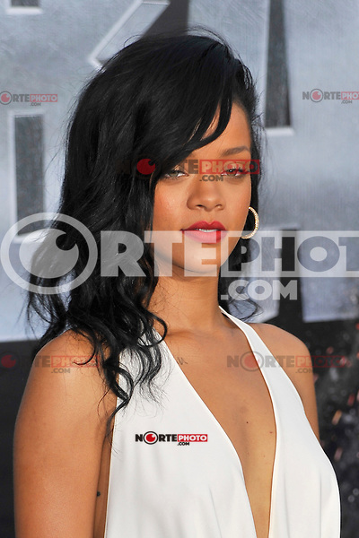 Rihanna at the film premiere of 'Battleship,' at the NOKIA Theatre at L.A. LIVE in Los Angeles, California. May, 10, 2012. © mpi35/MediaPunch Inc.