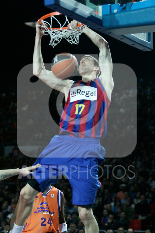 FC Barcelona's Fran Vazquez during Spanish Basketball King's Cup match.(ALTERPHOTOS/Acero)