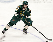 Jarrid Privitera (UVM - 19) - The Boston College Eagles defeated the University of Vermont Catamounts 7-4 on Saturday, March 11, 2017, at Kelley Rink to sweep their Hockey East quarterfinal series.The Boston College Eagles defeated the University of Vermont Catamounts 7-4 on Saturday, March 11, 2017, at Kelley Rink to sweep their Hockey East quarterfinal series.