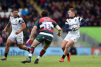 Callum Sheedy of Bristol Bears looks to pass the ball. Gallagher Premiership match, between Leicester Tigers and Bristol Bears on April 27, 2019 at Welford Road in Leicester, England. Photo by: Patrick Khachfe / JMP