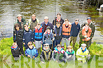 Members of the Laune Salmon and Trout Angling association who gave a lesson in safe angling to juveniles as part of the Irish Fisherys awareness week on the River laune  at Beaufort bridge on Saturday morning front row l-r: Stephen O'Mahony, Killian Coffey-Drier, Adam Doyle, Alan Wall-Griffin, Jack Trant, Joe Trant. Back row: Zach Heffernan, Billy Downes, Stephen Drier, Billy Cotter, Tomas Garland, Paul Garland, Seamus Giles, Sean O'Sullivan, Eoin Blake, Dylan Darmody, Michael Collins, Alan Griffin and Sean O'Hara