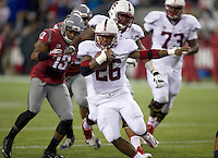 SEATTLE, WA - September 28, 2013: Stanford running back Barry Sanders rushes the ball during play against Washington State at CenturyLink Field. Stanford won 55-17.