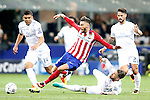 Real Madrid's Carlos Henrique Casemiro (l), Sergio Ramos (c-r) and Isco (r) and Atletico de Madrid's Yannick Ferreira Carrasco during UEFA Champions League 2015/2016 Final match.May 28,2016. (ALTERPHOTOS/Acero)