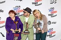 LOS ANGELES - MAR 3:  Agnes Varda, JR, Rosalie Varda_ at the 2018 Film Independent Spirit Awards at the Beach on March 3, 2018 in Santa Monica, CA