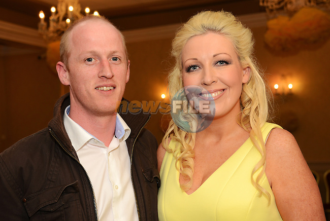Philip Mathews and Sarah Taaffe at the Daffodil Day Fashion Show. www.newsfile.ie