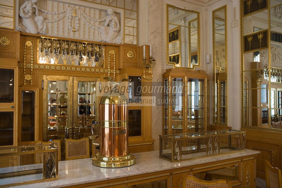 EEurope/République Tchèque/Prague: La Maison Municipale-Edifice Art Nouveau qui se dresse  à l'emplacement de l'ancien Palais Royal-détail du Salon de Thé ou Patisserie
