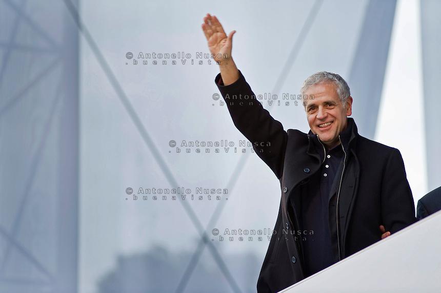 Il presidente della Regione Lombardia Roberto Formigoni alla manifestazione del Popolo della Libertà