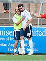 Forfar's Gavin Swankie celebrates after he scores their third goal.