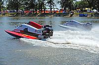 Heat race start: Dan Orchard, (#97), Mark Jakob, #7 and Lee Daniel, #2 (SST-120 class)