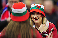 Welsh fans laugh and joke during the Guinness Six Nations Championship Round 3 match between Wales and France at the Principality Stadium in Cardiff, Wales, UK. Saturday 22 February 2020