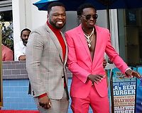 LOS ANGELES - JAN 30:  Curtis Jackson, 50 Cent, Michael Blackson at the 50 Cent Star Ceremony on the Hollywood Walk of Fame on January 30, 2019 in Los Angeles, CA