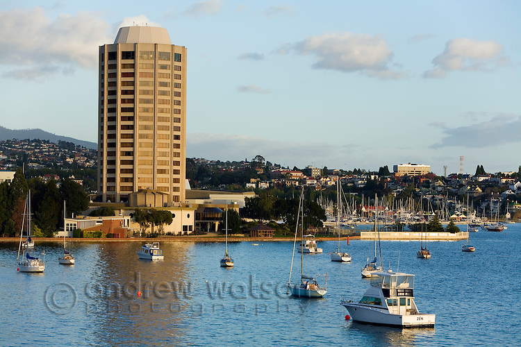 Wrest Point casino at Sandy Bay.  Hobart, Tasmania, AUSTRALIA
