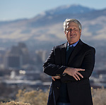 Author Dr. Shane Templeton at University Ridge Park in Reno, Nev., Thursday, December 21, 2017. (AP Photo/Tom R. Smedes)