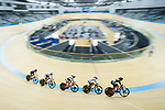 Diao Xian Juan (2nd from right) of the IND competes in Women Elite - Scratch 7.5KM Final during the Hong Kong Track Cycling National Championship 2017 on 25 March 2017 at Hong Kong Velodrome, in Hong Kong, China. Photo by Chris Wong / Power Sport Images