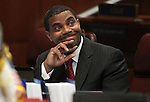 Nevada Senate Majority Leader Steven Horsford, D-North Las Vegas, on the Senate floor Wednesday, May 25, 2011, at the Legislature in Carson City, Nev. .Photo by Cathleen Allison