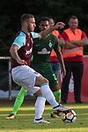 28.07.2017, Sportplatz, Schneverdingen, GER, FSP SV Werder Bremen (GER) vs WestHam United (ENG), <br /> <br /> im Bild<br /> Marco Arnautovic (WestHam)<br /> Theodor Gebre Selassie (Werder Bremen #23)<br /> <br /> Foto &copy; nordphoto / Kokenge