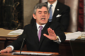 Washington, DC - March 4, 2009 -- The Right Honorable Gordon Brown, M.P., Prime Minister of the United Kingdom, addresses a Joint Session of the United States Congress in the U.S. Capitol in Washington, D.C. on Wednesday, March 4, 2009..Credit: Ron Sachs / CNP