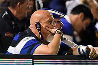 A Bath Rugby supporter in the crowd looks on. Gallagher Premiership match, between Bath Rugby and Exeter Chiefs on October 5, 2018 at the Recreation Ground in Bath, England. Photo by: Patrick Khachfe / Onside Images