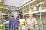 FACELIFT: Fr Tadhg Fitzgerald, PP of Brosna Parish and Maurice McAuliffe, contractor, inspected the EUR1.1m re-development of St Carthage's Church, which is due to re-open at the end of the month.