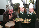 Kieran Gallagher with Olivia Smith and Emma Crilly at the Launch of The Fatima Girls NS Cookery Book in the Eastern Seaboard Restaurant. .Photo NEWSFILE/Jenny Matthews.(Photo credit should read Jenny Matthews/NEWSFILE)....This Picture has been sent you under the condtions enclosed by:.Newsfile Ltd..The Studio,.Millmount Abbey,.Drogheda,.Co Meath..Ireland..Tel: +353(0)41-9871240.Fax: +353(0)41-9871260.GSM: +353(0)86-2500958.email: pictures@newsfile.ie.www.newsfile.ie.FTP: 193.120.102.198.