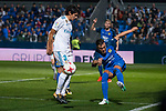 Fuenlabrada Armando Lozano and Real Madrid Jesus Vallejo during Copa del Rey match between Fuenlabrada and Real Madrid at Fernando Torres Stadium in Madrid, Spain. October 26, 2017. (ALTERPHOTOS/Borja B.Hojas)