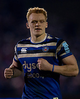 Bath Rugby's Miles Reid<br /> <br /> Photographer Bob Bradford/CameraSport<br /> <br /> Gallagher Premiership - Bath Rugby v Saracens - Friday 8th March 2019 - The Recreation Ground - Bath<br /> <br /> World Copyright © 2019 CameraSport. All rights reserved. 43 Linden Ave. Countesthorpe. Leicester. England. LE8 5PG - Tel: +44 (0) 116 277 4147 - admin@camerasport.com - www.camerasport.com