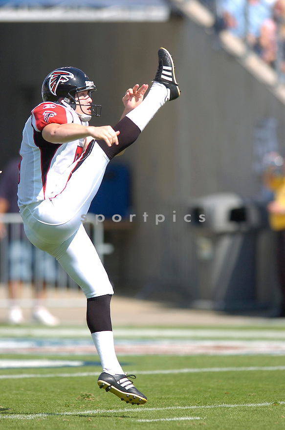 MICHAEL KOENEN, of the Atlanta Falcons , in action during the Falcons game against the Tennessee Titans in Nashville, TN on October 7, 2007...Titans win 20-13.....