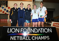 Lion Foundation Netball Championship, day five, MoreFM Arena, Dunedin, New Zealand, Friday, October 04, 2013. Credit: Dianne Manson/©MBPHOTO /Michael Bradley Photography.