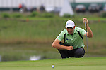 Padraig Harrington lines up his putt on the first green on the final day of the 3 Irish Open, at the Killarney Golf and Fishing Club, Killarney, Ireland.Picture Fran Caffrey/www.golffile.ie.