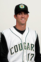 Chas Byrne (17) of the Kane County Cougars at Elfstrom Stadium in Geneva, Illinois;  April 5, 2011. Photo By Chris Proctor/Four Seam Images.