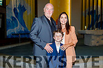 Evan Griffin from Holy Family NS with his parents Tony Griffin and Trish Corcoran at his First Holy communion at St Brendans Church on Saturday.