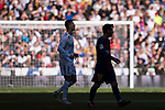 Cristiano Ronaldo (L) of Real Madrid and Lionel Andres Messi of FC Barcelona look on during the La Liga 2017-18 match between Real Madrid and FC Barcelona at Santiago Bernabeu Stadium on December 23 2017 in Madrid, Spain. Photo by Diego Gonzalez / Power Sport Images