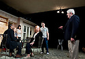 In Basildon by David Elridge, directed by Dominic Cooke. With Christian Dixon as Rev David Williams, Ruth Sheen as Maureen, Jade Williams as Shelly,  Linda Bassett as Doreen, Lee Ross as Barry, Peter Wright as Ken.Opens at The Royal Court Theatre Downstairs on 22/2/12 . CREDIT Geraint Lewis