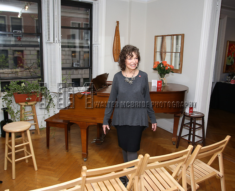 Gretchen Cryer during the DGF Salon with Lisa Kron at the home of Gretchen Cryer on May 2, 2016 in New York City.