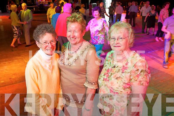 Rita Gordon (Ohio), Elizabeth Scanlon (Tralee) and Noreen O'Sullivan (Abbeydorney)  at the Tea Dance in the Dome on Friday.