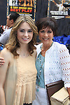 "Days of our Lives Jillian Clare ""Abigail Devereaux"" poses with As The World Turns' Colleen Zenk is ordained Universal Life Church minister who officiated the wedding of We Love Soaps  Roger Newcomb and Kevin Mulcahy Jr on August 18, 2012 in Times Square, New York City, New York. (Photos by Sue Coflin/Max Photos)"